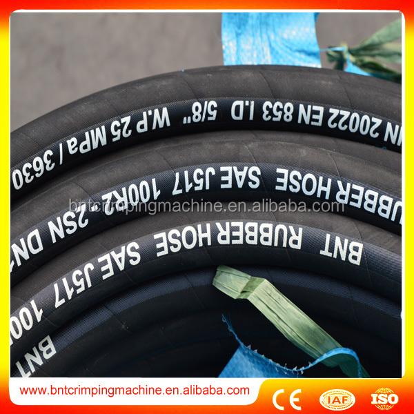 "5000PSI High Pressure Compact Used 3/8"" Hydraulic Rubber Hose SAE100 R12"