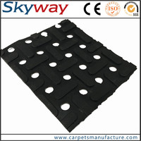 Easy clean grease proofing safety plant heavy duty rubber floor mat