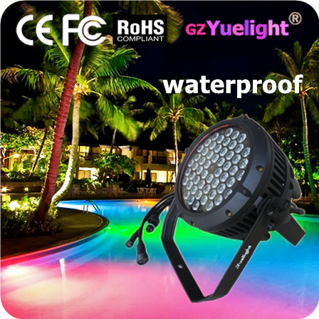 Yuelight 54pcs RGBW waterproof outdoor led par can, led flat par can,led par light