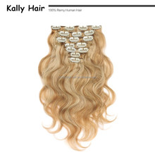 light blonde 30 inch human hair extensions clip in