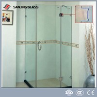 8mm 10mm 12mm Tempered glass for shower door