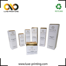 Customized cosmetic packing small paper box with logo printing