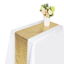 Premium 30*275CM Gold Sequin Christmas Decoration Table Runner