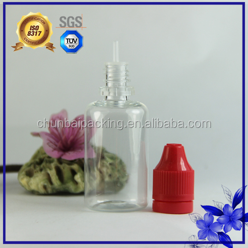 wholesale ejuice bottles plastic clear long dropper 30ml pet bottle