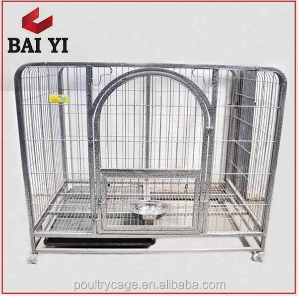 Heavy Duty Square Tube Large Dog Cage Pet Crate with Wheels for USA Market