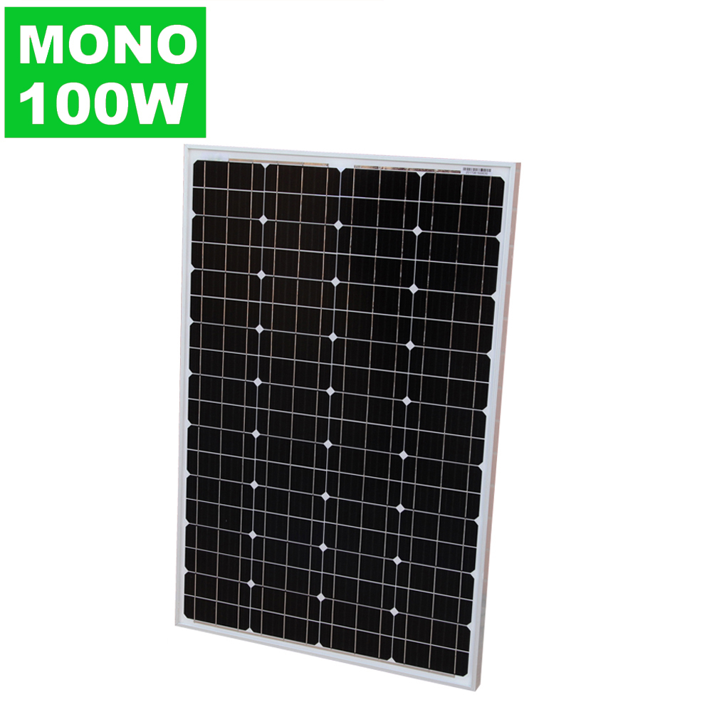 China PV Manufacturer 100W 18V Mono pv Solar Panel For Home System