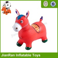 PVC inflatable jumping horse for kids,Bouncy animal with music