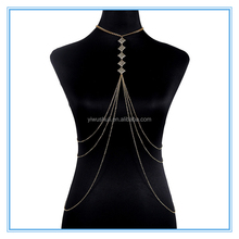 2017 new arrival gold body chain long belly Chain Necklace vintage multilayer beach body chain