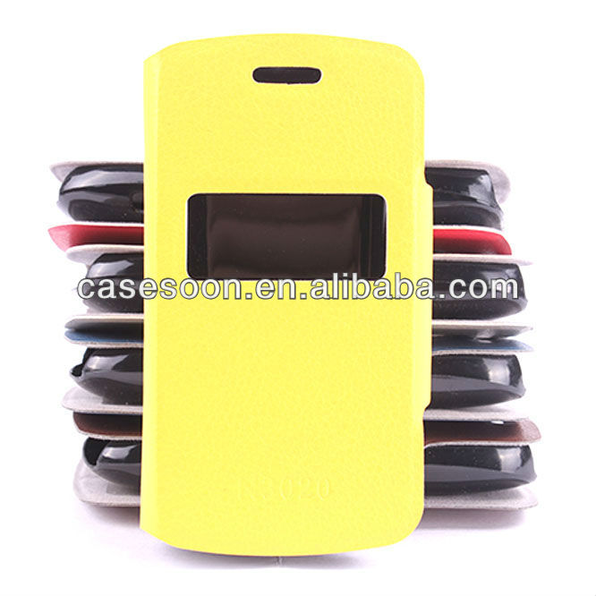 Lychee PU Leather case for Nokia Asha 302 / 3020 Pattern With Stand with caller ID display function