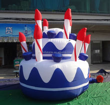 Happy birthday advertising inflatable birthday cake, inflatable cake model