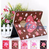 New Cute Mushroom Dot PU Leather Cover Case For iPad2,Carton leather case for Ipad3