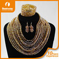 Bestway Textile BJ0015-4 African Coral Beads Jewelry Necklace And Earring Sets