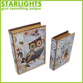 Decorative Antique Design Series Gift Canvas Book Box