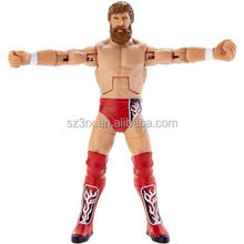 Jointed movable wrestling action figure/Custom articulated plastic 3d action figures/wholesale movable action figure
