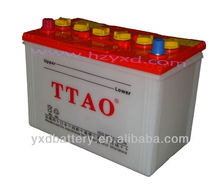 Auto parts supplier car battery /dry charged battery