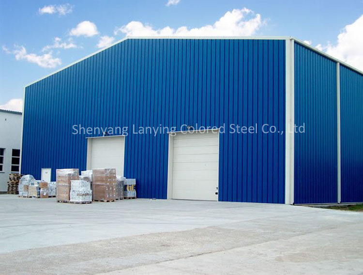 gable frame light metal building prefabricated industrial steel structure