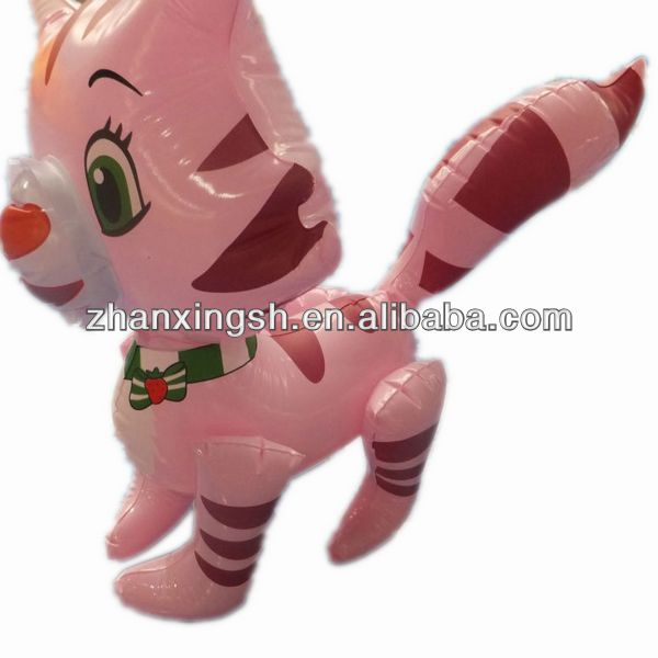 2014 shanghai zhanxing hot sale pvc fashion popular inflatable cat air toy funny for kids in good price