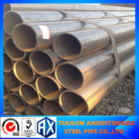 bs1387/astma53/q235 erw welded black steel pipe/tube big diameter mild carbon steel pipe dimension a53f welded steel pipes