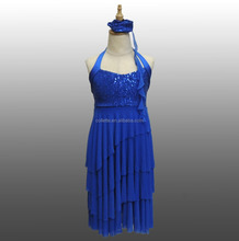 MBQ638 Sexy women sequin new design lycrial stage dance costumes dress