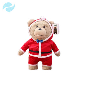Girls toys Santa Claus  Plush Stuffed Soft cheap Toys china Teddy Bear stuffing material Christmas for kids giftts