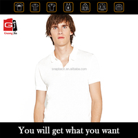 Wholesale Custom Good Quality Cheap Breathable Plain White Shortsleeve Polo T-shirt For Man
