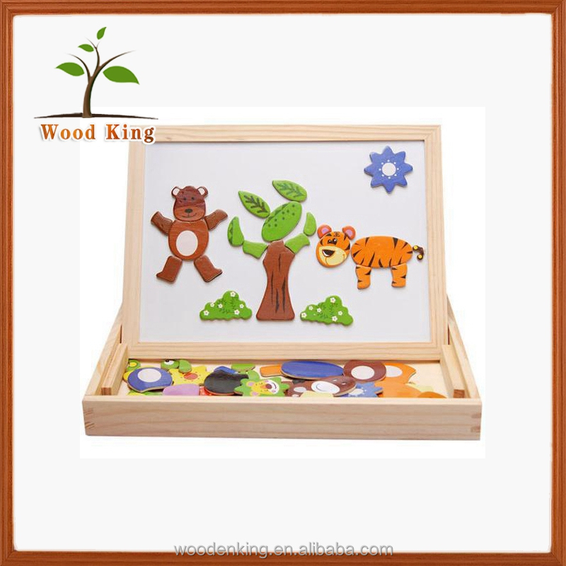 Drawing Writing Board Blackboard Animal Spell Spell Le Magnetic Factory Wooden Toy Puzzle