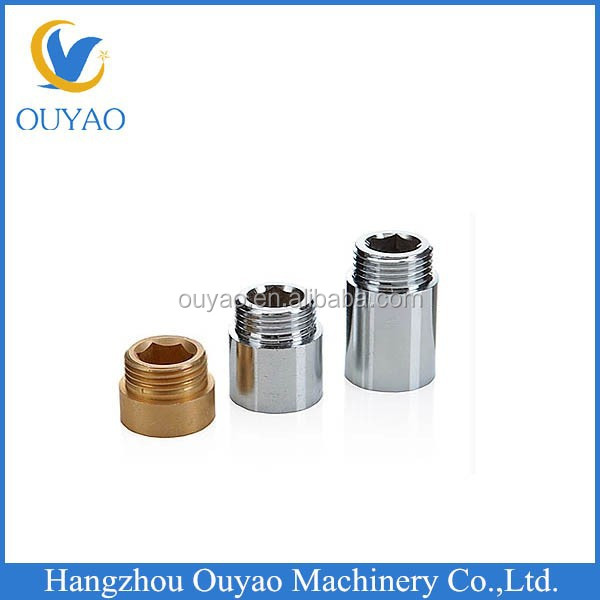 Brass coupling pipe fittings, pipe fitting extension coupling, 30mm pipe coupling joint