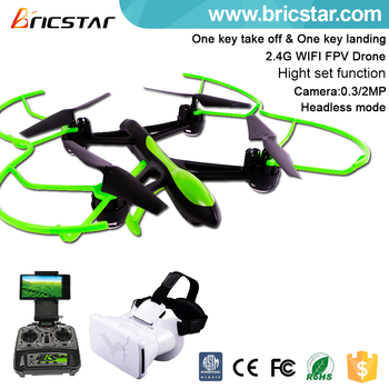 Online shopping thermal camera VR drone with headset 3D VR - controlled