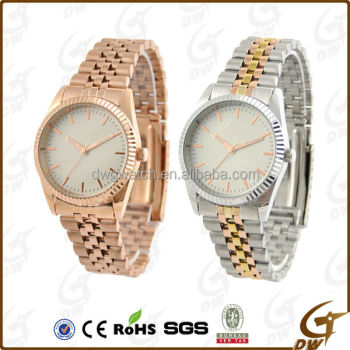 Classic gold plating luxury Alloy Couple cheap watches online for sales