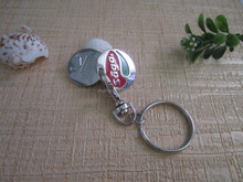 Factory business gift use beautiful keyring unusual keyrings unique keyrings