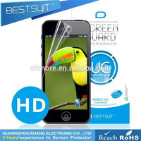 High quality No Bubble super guard anti uv cell phone / mobile phone Clear screen protector