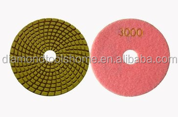 Stone hand tools dry/wet diamond no color fade 7 inch diamond polishing pad