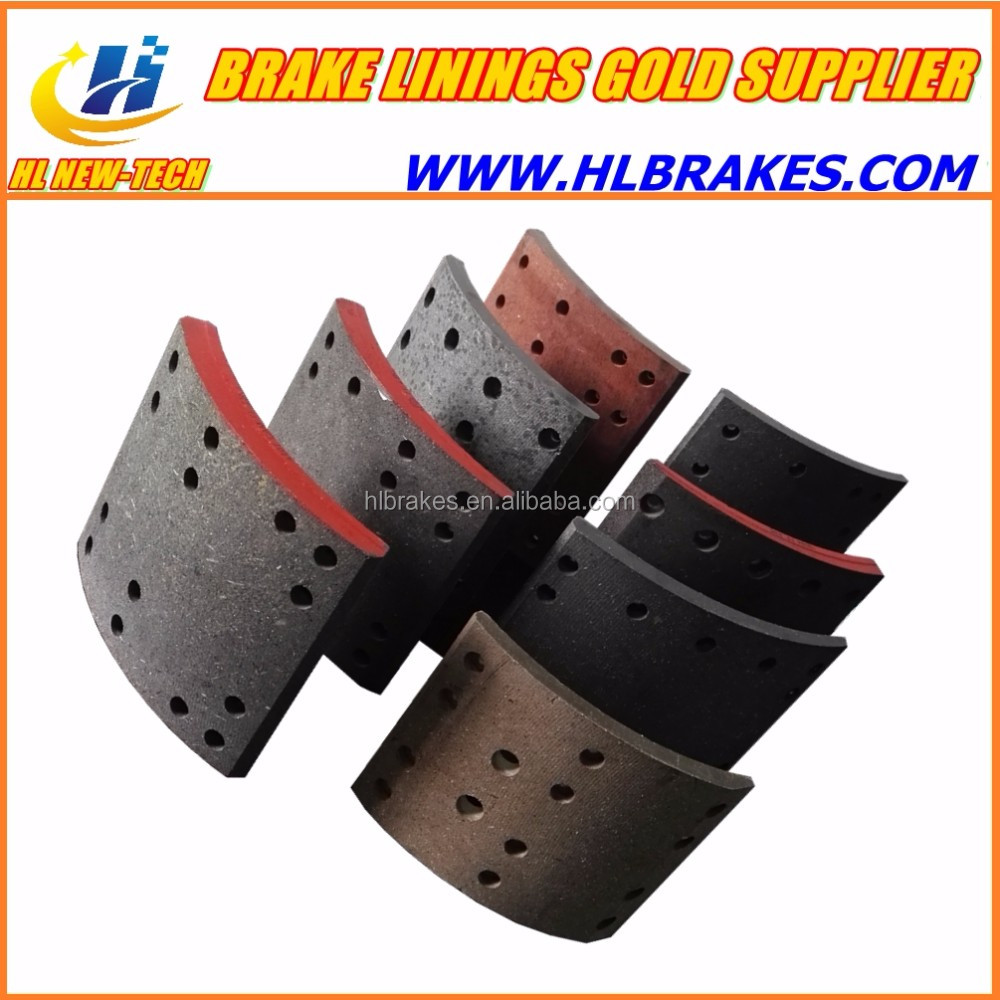 140T REAR wheel brake shoe lining / EQ 140T auto truck spare parts