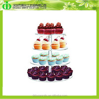 DDC-0267 Trade Assurance Cupcake Stand Acrylic 4 Tier