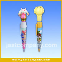 Promotional ABS Musical Ballpoint Pen with 3D PVC Topper Head
