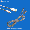Popular Quick Charge Data Line with Metal Spring for iPhone Android Phone Type C USB Charger Cable
