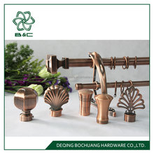 2018 Good Sales Africa Metal ball Curtain Rod ,curtain finial , curtain pole