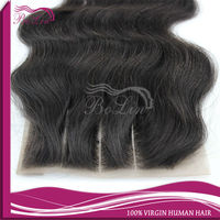 Wholesale unprocessed 3 way part lace closure with baby hairs