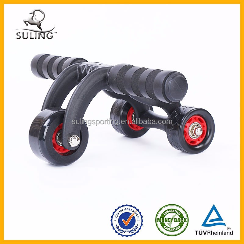 Original ABS material 3 wheel ab roller With ab Mat Fitness Exerciser Abdomonal Abs Wheels