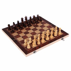 New Design 3 in 1 Wooden International Chess Set Board Travel Games