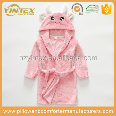 Hot Sale Children's Bathrobes Autumn and Winter Children Bathrobe Flannel Long Kids Robes Thickening Coral Velvet Boys Bathrobe
