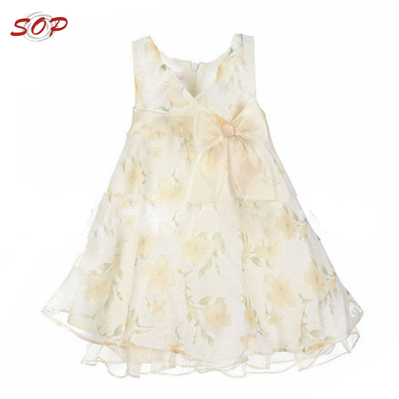 New Fashion Kids Girl Clothing Boutique Children Dresses Organza Net Black Flower For Summer