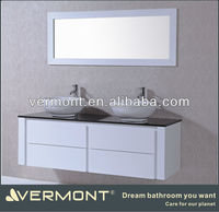 European Wholesale Bathroom Vanities Double Sink Modern Model