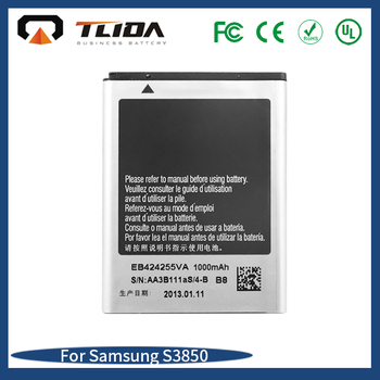 High Capacity Replacement mobile phone battery factory wholesale phone battery Li-ion for S3850