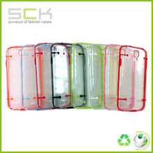 Ultra-thin Clear/Transparent luminous Bumper Case Skin PC Frame For samsung galaxy s4