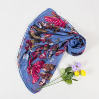 Low MOQ Hot sell women blue pink color paisley printed summer scarf
