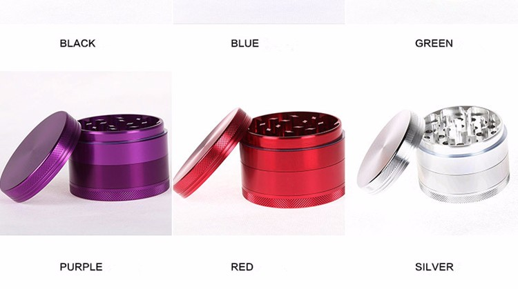 Top Sale Quality wholesale OEM/ODM Custom logo  4 layer tobacco weed metal herb grinder