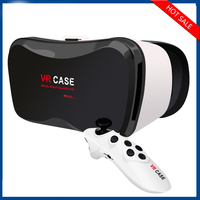 New Version Vr Case 5plus 3d Virtual Reality Vr Headset,Vr Glasses,Vr Box Case With Bluetooth vr box 5.0