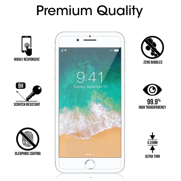Mobile Phone Accessories unbroken Tempered Glass Screen Guard for iPhone 6 6S 7 8 universal