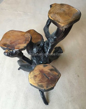 Newly and Fine Quality Wooden Root Flower Stand